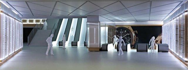 Scale model of Crossrails new Farringdon station