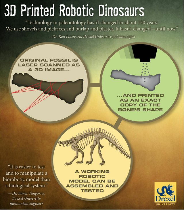 Drexel Uni Dino 3D Print Infographic