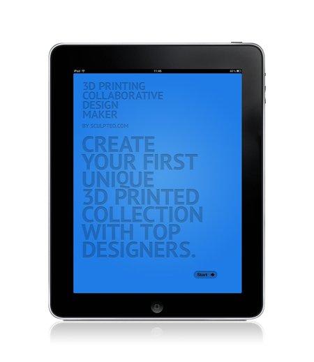 Sculpteo App iPad