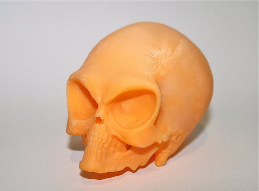High-Resolution Alien Skull Print