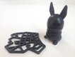 Satin black Shapeways bunny