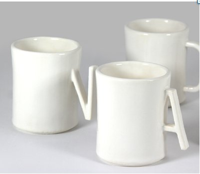 AND mugs from Sculpteo ceramic 3D printing