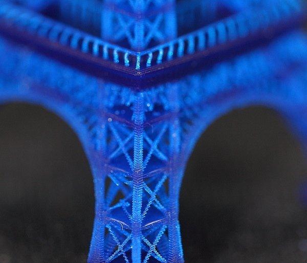 MiiCraft 3D printed Eiffel tower detail