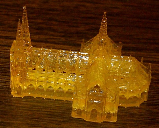 Thingiverse church printed on Sedgwick DLP 3D printer