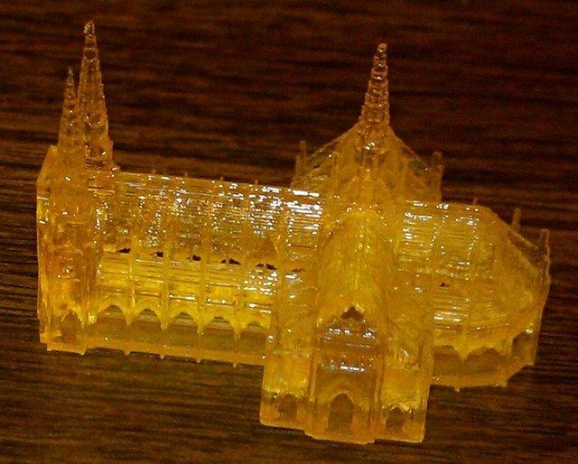 Thingiverse church printed on Sedgwick DLP 3D printer