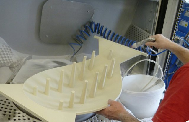 VoxelJet Spoon in manufacture