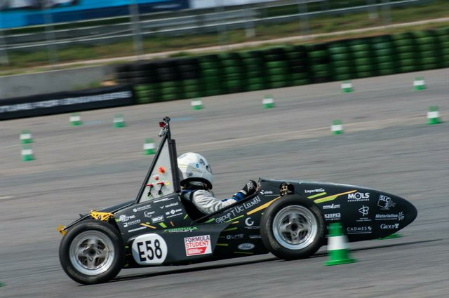 The Areion hits the track.jpg