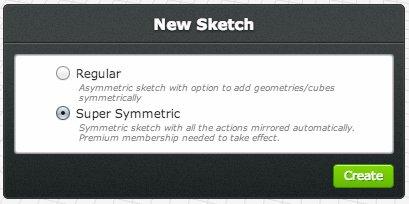 3DTin New Sketch Selct Symmetry