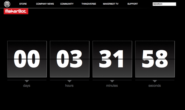 Makerbot Countdown