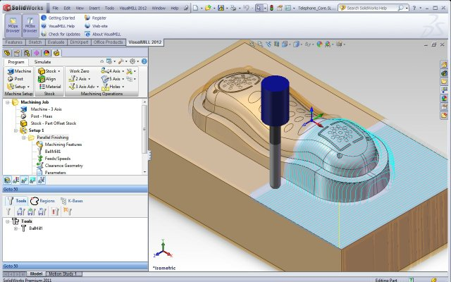 The new version VisualMILL 2012 for SolidWorks