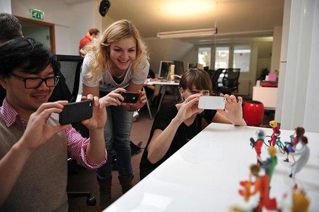 Each staff member gets their own figurine