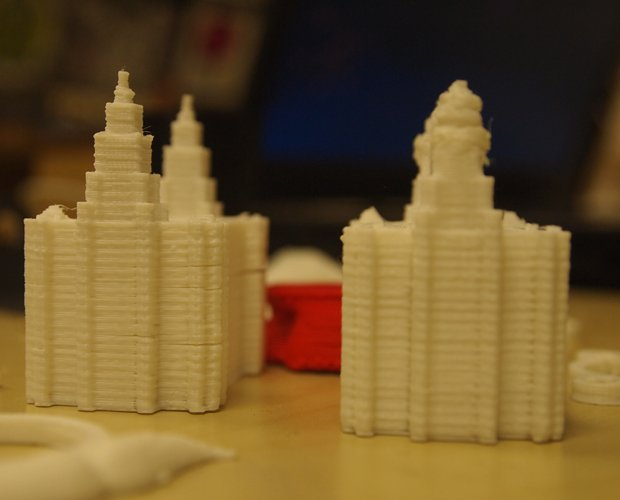 The Liver Buildings printed on a RepRap