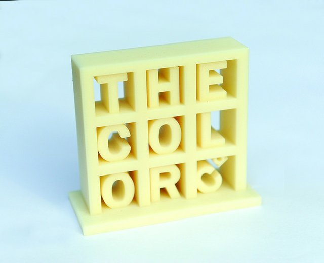 The Color Company Logo 3D Printed