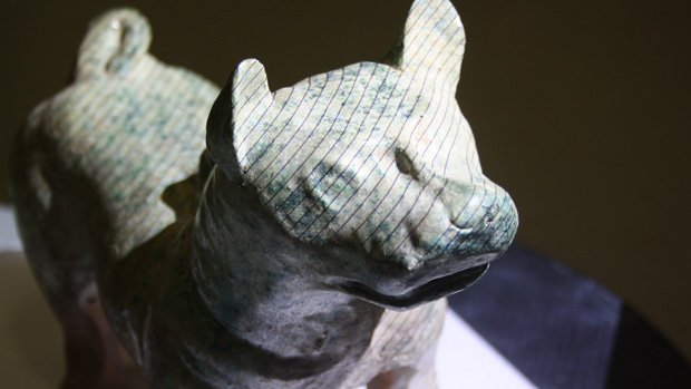 An original 2,000 year-old Han Dynasty Dog being scanned by Initiion