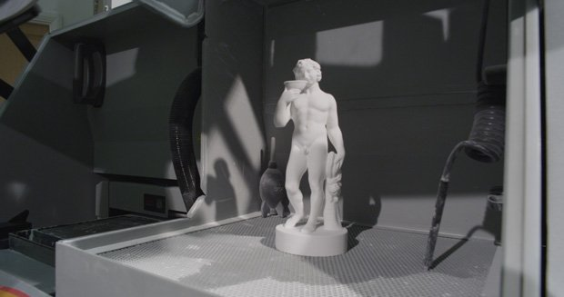 Final 3D printed model of Bacchus statue