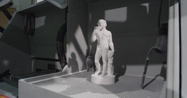 Final 3D printed model of Bacchus statue
