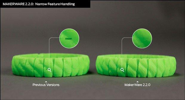 Narrow feature handling