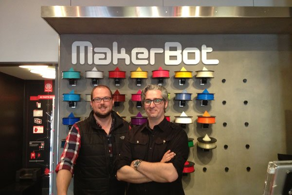 Jim and Bre at MakerBot Store