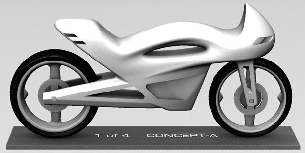 3D model of the concept bike