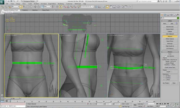"""The measuring process for """"normal"""" Barbie"""