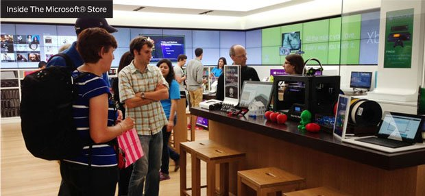MakerBot Experience in Microsoft store