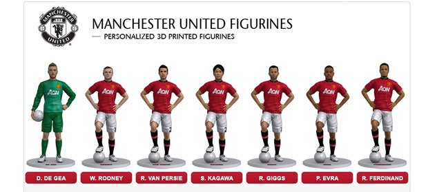 Manchester United Figurines by 3D Systems