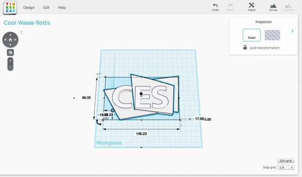 The Logo inside Tinkercad
