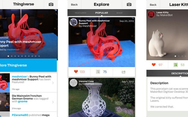 MakerBot launch new Thingiverse app