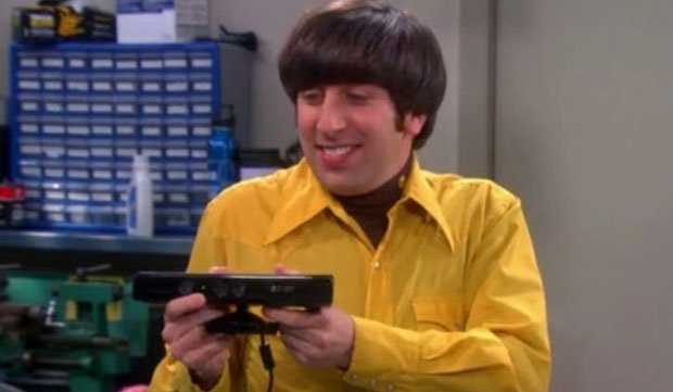 Big Bang Theory's Howard with Kinect