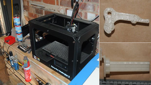 3D Printer and parts seized by police