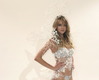 Lindsay Ellingson in her complete Snow Queen Costume