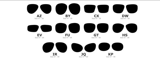 Eyewear Kit's wide selection of lens shapes