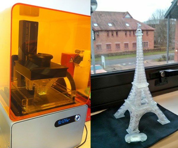 Eiffel Tower printed on Form 1