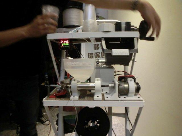 The filament extruder close up