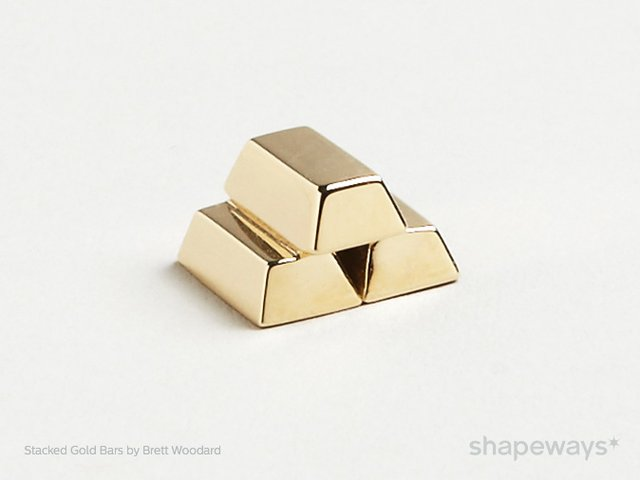 Shapeways gold bars