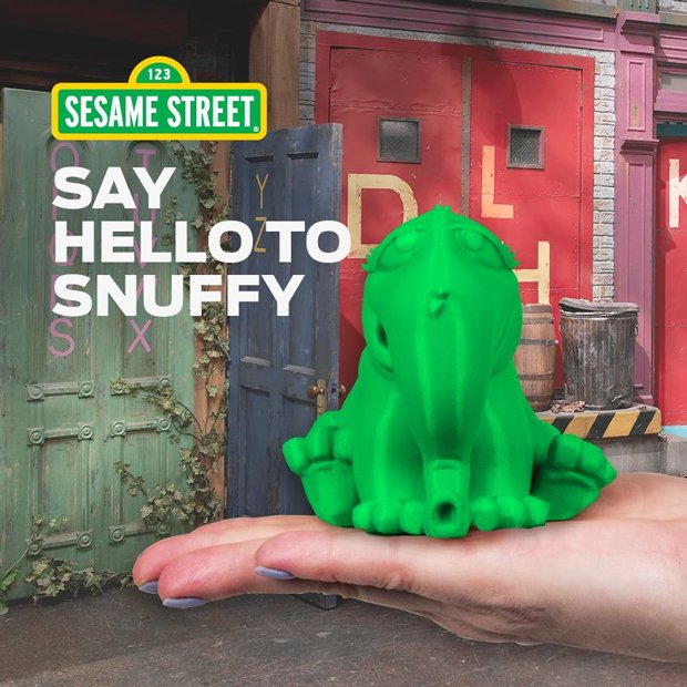 A 3D Printed Snuffleupagus