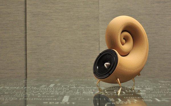 Akemake's wooden 3D printed speaker