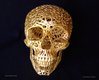 Close up of the skull design by Josh printed by Shapeways