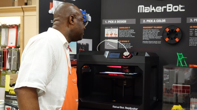 MakerBot booth at The Home Depot