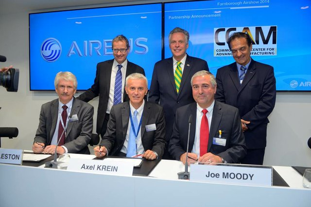 Celebratory signing event at Farnborough International Airshow 2014