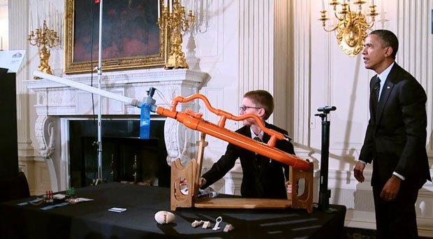 Obama fires a rocket