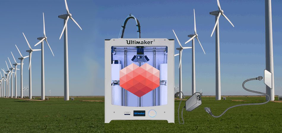 3D Hubs use wind power