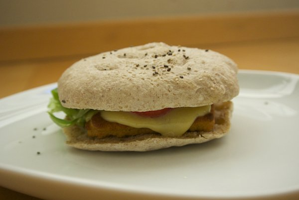 Veggie burger made with Foodini