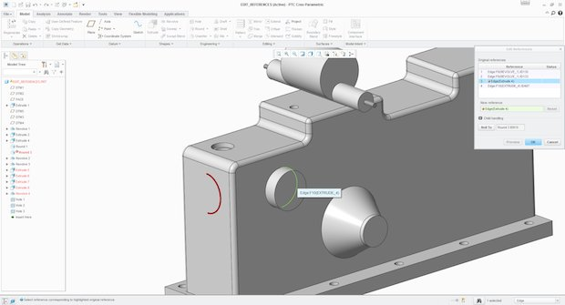 PTC Creo Parametric - Edit References
