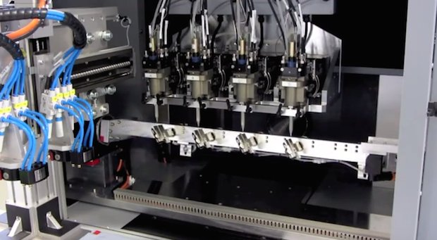 High volume production printing of 3D antennas