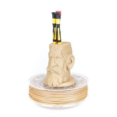 Pen holder created using optimised PLA filament, woodFill Fine