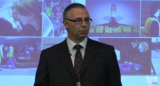 BAE Systems' John dunstan at TCT Show