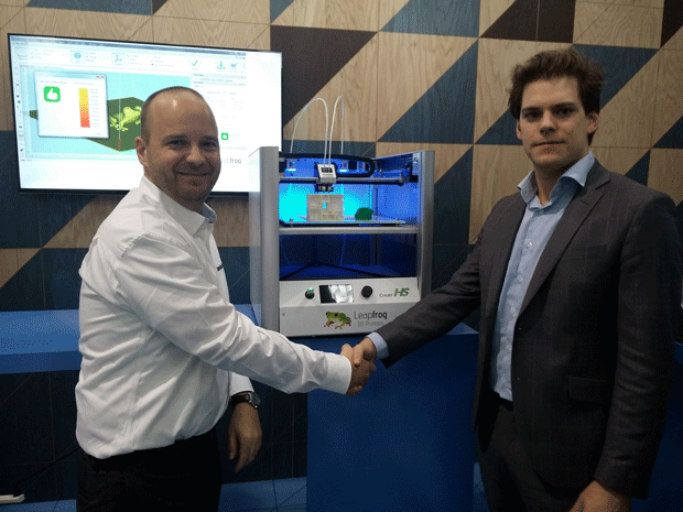 Materialise forge paertnership with Leapfrog