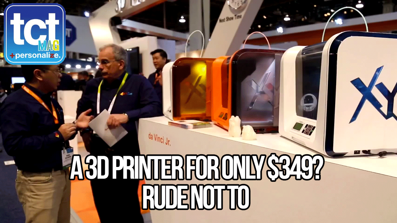 XYZprinting talk affordable 3D printing at the show