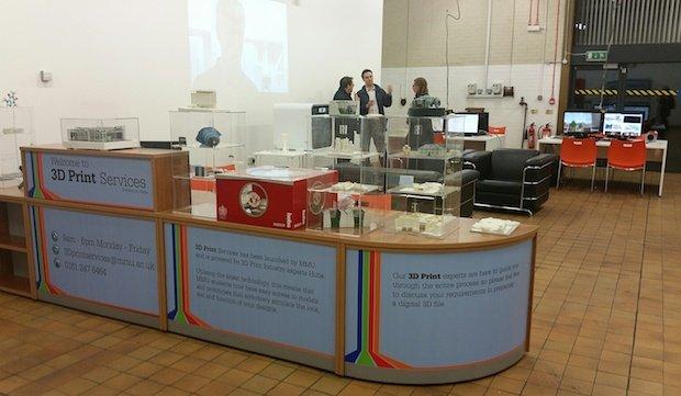 Hobs 3D printing bureau at MMU Digital Innovation.